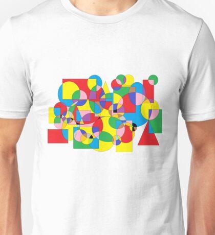 abstrakte Malerei mit Formen und bunte Farben Unisex T-Shirt