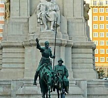 Madrid - Don Quixote statue at Plaza de España by Michelle Falcony