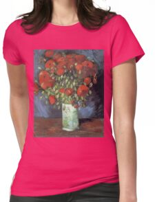Vincent Van Gogh - Vase With Red Poppies, 1886 Womens Fitted T-Shirt