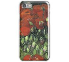 Vincent Van Gogh - Vase With Red Poppies, 1886 iPhone Case/Skin