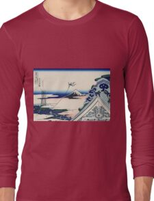 Hokusai Katsushika - Asakusa Hongan-ji temple in the Eastern capital [Edo] Long Sleeve T-Shirt