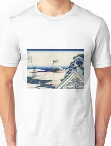 Hokusai Katsushika - Asakusa Hongan-ji temple in the Eastern capital [Edo] Unisex T-Shirt