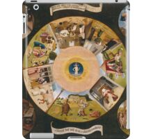 Hieronymus Bosch - The Seven Deadly Sins And The Four Last Things 1485 iPad Case/Skin