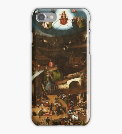 Hieronymus Bosch - The Last Judgement 1482 png iPhone Case/Skin