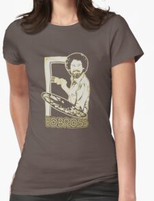 Bob Ross Happy Tree T shirt Womens Fitted T-Shirt