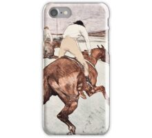 Henri de Toulouse Lautrec -  The Jockey (1899)  iPhone Case/Skin