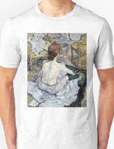 Henri de Toulouse Lautrec -  Rousse (1889)  Unisex T-Shirt
