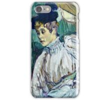 Henri de Toulouse Lautrec -  Jane Avril Dancing (circa 1892)  iPhone Case/Skin