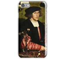 Hans Holbein the Younger - The Merchant Georg Gisze 1532 png iPhone Case/Skin