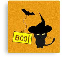 Cute cat disguised for Halloween Canvas Print