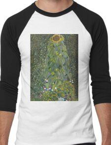 Gustav Klimt - The Sunflower 1907 Men's Baseball ¾ T-Shirt