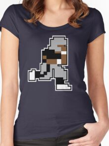 Nintendo Tecmo Bowl Oakland Raiders Bo Jackson Women's Fitted Scoop T-Shirt