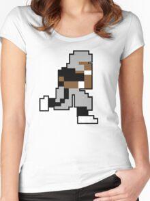 Nintendo Tecmo Bowl Oakland Raiders Bo Jackson Women's Fitted Scoop T-Shirt
