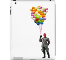 red skull with balloons iPad Case/Skin