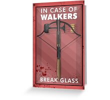 In Case Of Walkers Greeting Card