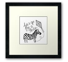 Marry Poppins - Let's Go Fly a Kite Framed Print