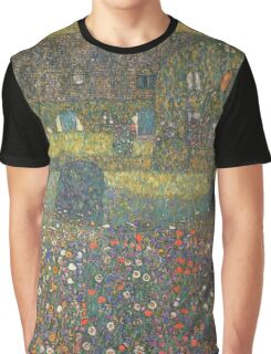 Gustav Klimt - Country House By The Attersee Graphic T-Shirt