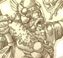 Norse god Thor Sticker