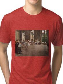 Edgar Degas - The Rehearsal ( 1873 - 1878)  Tri-blend T-Shirt