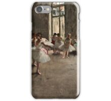 Edgar Degas - The Rehearsal ( 1873 - 1878)  iPhone Case/Skin