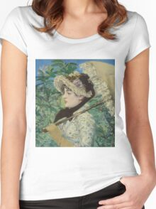 Edouard Manet - Jeanne (Spring) Women's Fitted Scoop T-Shirt