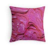 Pink Frosting Throw Pillow