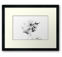 Fine Art, Double Exposure Framed Print