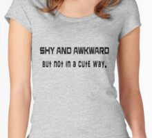 Shy and Awkward Women's Fitted Scoop T-Shirt