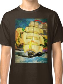 A Clipper Ship Sailing Out of Gibraltar Classic T-Shirt