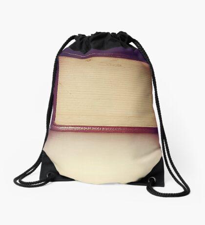 Vintage Book Drawstring Bag