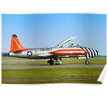 Lockheed T-33A 51-8566 G-TJET Poster