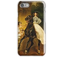 Karl Bryullov (Bryullo) - A Rider (1832)  iPhone Case/Skin