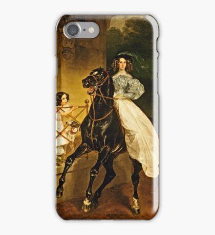 Karl Bryullov (Bryullo) - A Rider (1832)  iPhone Case/Skin