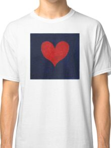 Simple red heart on blue Classic T-Shirt