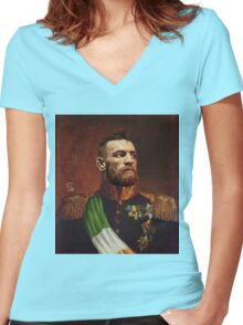Conor McGregor - Protector of the Land Women's Fitted V-Neck T-Shirt