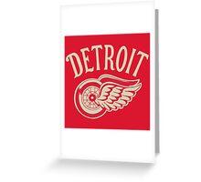Detroit Red Wings  ice hockey team Greeting Card
