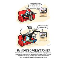 Greyhound Glossary: Words of Greyt Power Photographic Print