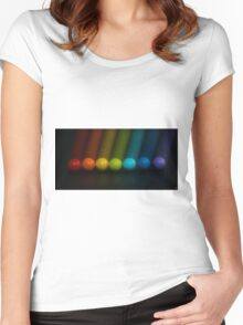 Sweet Candy Rainbow Women's Fitted Scoop T-Shirt
