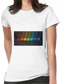 Sweet Candy Rainbow Womens Fitted T-Shirt