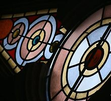 Stained Glass Window at the Eldridge Street Synagogue in NYC by Gilda Axelrod