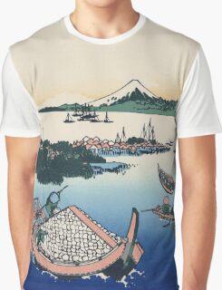 Hokusai Katsushika - Tsukuda Island in Musashi Province Graphic T-Shirt