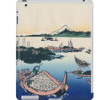 Hokusai Katsushika - Tsukuda Island in Musashi Province iPad Case/Skin