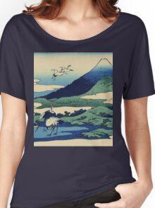 Hokusai Katsushika - Umezawa in Sagami Province Women's Relaxed Fit T-Shirt