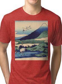 Hokusai Katsushika - Umezawa in Sagami Province Tri-blend T-Shirt