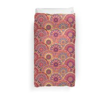 Scales pattern from pink flower mandalas Duvet Cover