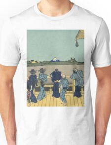 Hokusai Katsushika - Sazai hall - Temple of Five Hundred Rakan Unisex T-Shirt