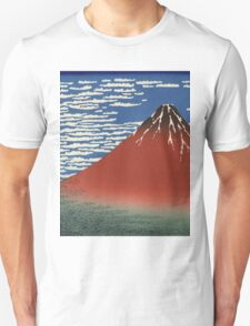 Hokusai Katsushika - Red Fuji southern wind clear morning Unisex T-Shirt