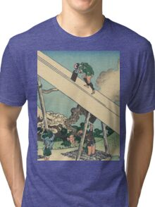 Hokusai Katsushika - Mount Fuji from the mountains of Totomi Tri-blend T-Shirt