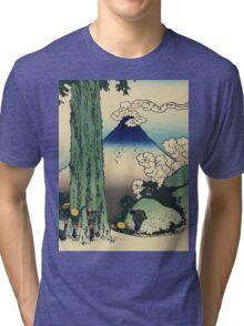 Hokusai Katsushika - Mishima Pass in Kai Province Tri-blend T-Shirt