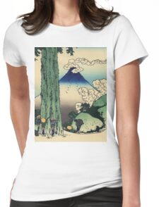 Hokusai Katsushika - Mishima Pass in Kai Province Womens Fitted T-Shirt